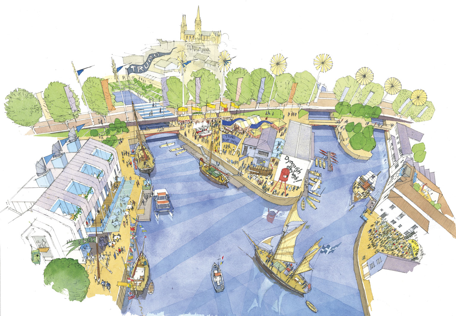 Truro Quays Harbour village potential project diagram.